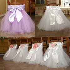 chair covers for baby shower new design wedding banquet chair cover bow tulle tutu chair skirt