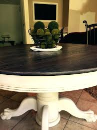 dining table black chalk paint dining room table old white
