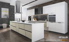 high gloss white kitchen cabinets high gloss white lacquer kitchen with island op19 l06