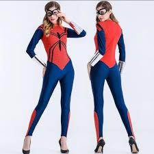 Spiderman Costume Halloween Stock Spiderwoman Costume Suit Female Superhero Costume