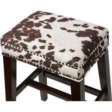 100 linon home decor bar stools brown isaac swivel bar linon cs099cow01u walt counter stool in brown cow print fabric on walt counter stool in brown