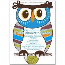Owl Baby Shower Boy - cute owl baby boy shower invitation bs236