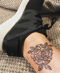 the 25 best rose ankle tattoos ideas on pinterest rose tattoo