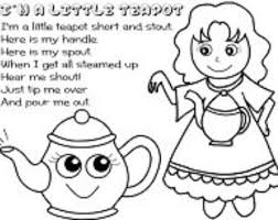 im a little teapot coloring page sketch coloring page
