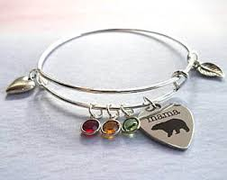 mothers day birthstone bracelet mothers day jewelry etsy