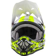 motocross helmet goggles oneal 3 series shocker black neon yellow motocross helmet quad mx