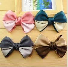hair bow ribbon free shipping wholesale 20pcs lot butterfly hair clip two color