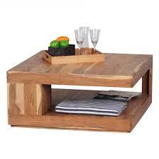 Wohnzimmer Massivholz Finebuy Couchtisch Massiv Holz Akazie 90 X 90 X 40 Cm Wohnzimmer