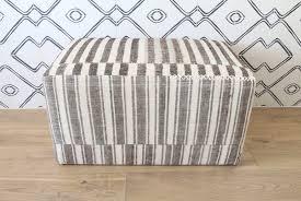 Small Ottoman Topanga Ottoman Small Upholstered W Striped Kilim U2013 Shoppe By