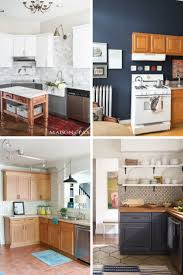 how to freshen up stained kitchen cabinets upgrade for builder grade cabinets 13 ideas for replacing