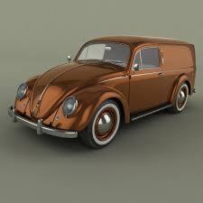 volkswagen beetle studio max 3d volkswagen beetle van 3d model in classic cars 3dexport