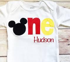 mickey mouse 1st birthday shirt mickey mouse inspired one shirt for 1st birthdays boy birthday