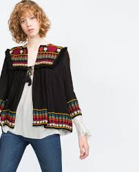 embroidered jacket jackets woman zara canada blouson