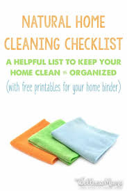 natural house cleaning checklist wellness mama