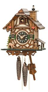 cuckoo clock black forest house with moving chimney sweep 1 day