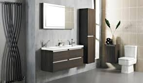 Wooden Bathroom Accessories Set by Grey Color Wall Mounted Wooden Vanity Beige Bathroom Accessories