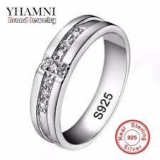 wedding rings cross images 2018 yhamni real pure silver cross rings set cz diamond engagement jpg