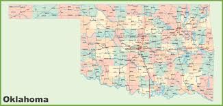 San Francisco County Map by Road Map Of Oklahoma With Cities