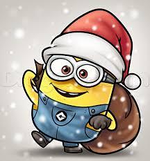 draw christmas minion draw