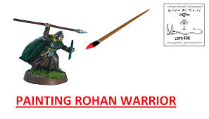 lotr how to paint rohan warrior gw youtube