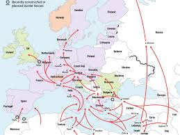 Map Of Syria And Surrounding Countries by Map Of Europe Refugee Crisis Business Insider