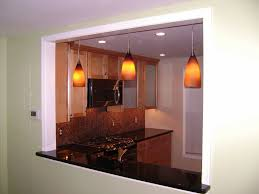 Pendant Lights For Living Room Pendant Lights In A Newly Created Opening Between The Kitchen And