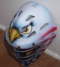 Eagle American Flag Airbrushed Eagle American Flag Catchers Helmet Rawlings