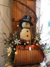 24 attractive christmas sleigh decoration inspirations snowman