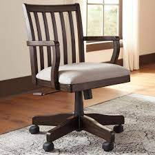 Office Chair On Laminate Floor Furniture Elegant Dark Wood Adjustable Office Chair By Ashley