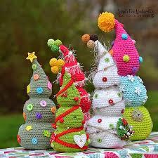 crochet christmas christmas tree magic with hook and needles