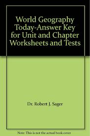 Worksheets For Geography World Geography Today Answer Key For Unit And Chapter Worksheets
