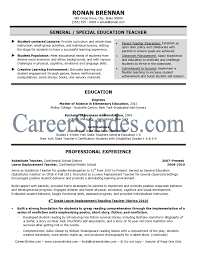 sle resume exles basic teacher resumes new resume exles sle elementary teacher
