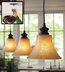 Pendant Lighting For Recessed Lights In Pendant Lighting With Textured Linen Glass Shade