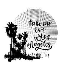 vintage california print with palm trees and halftone background