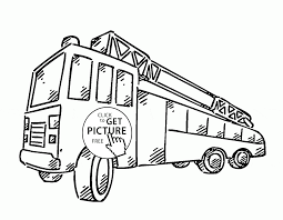 simple fire engine coloring page for kids transportation coloring