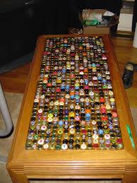 beer cap table top this would be cool to do at c for the table quotes to live by