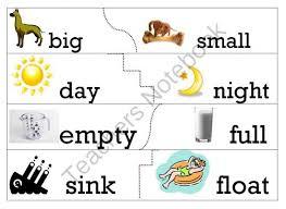13 best opposites images on pinterest worksheets preschool and
