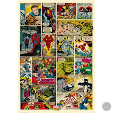 marvel comic book wall mural u2013 funky store