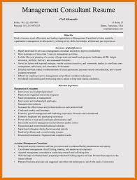 Management Consultant Resume 7 Resume Management Objective Bibliography Apa