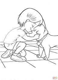 penny with dog coloring page free printable coloring pages