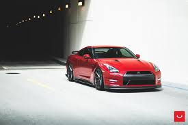 nissan gtr wrapped red fast and furious nissan gtr gets hooked on the vossen vfs1 wheels