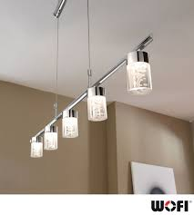 Wofi U0027maar U0027 5 Light Led Ceiling Pendant Light Chrome 7806 05