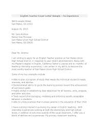 education cover letter template english cover letter sample gallery cover letter ideas
