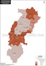 2014 Election Map by Chhattisgarh General Lok Sabha Elections 2014 Chhattisgarh