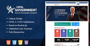 free bootstrap templates for government local government html template for town municipality websites by