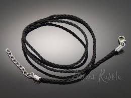 cord necklace clasp images Black nylon rope cord necklace with lobster clasp extender chain jpg