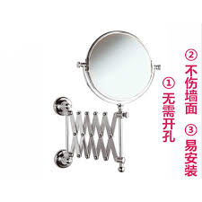 two sided bathroom with makeup mirror telescopic mirror toilet