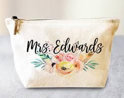 bridal makeup bags bridal shower gift etsy