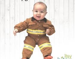 Fireman Halloween Costume Baby Firefighter Etsy