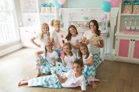brynne u0027s monogram slumber birthday party for balloon time u0027s party